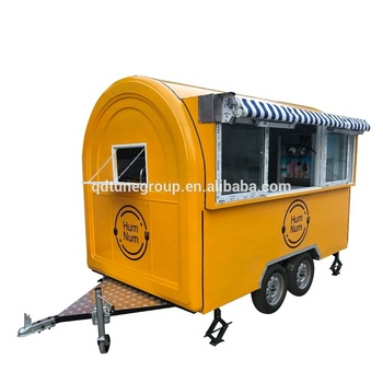 towable fruit food trailer snack fast food vending car for sale