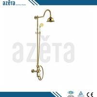 Luxury Style Bathroom Faucet Brass Gold Rain Shower Panel Faucet Set