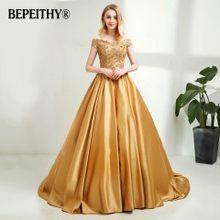 Женское длинное вечернее платье BEPEITHY, винтажное платье с треугольным вырезом и кружевной отделкой из бусин, недорогое вечернее платье(Китай)