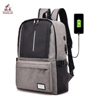 Fashion reflective Waterproof Smart Laptop bags Travel School back pack USB charging College bags backpack