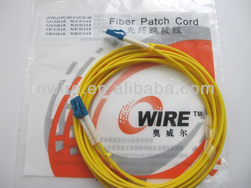 SM Simplex Optical Fiber Patch Cord fiberoptic cable