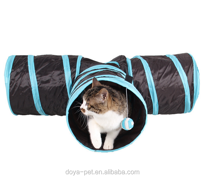 Wholesale Cheap New Cat Toy Collapsible Pet 3 Way Cat Toy Tunnel