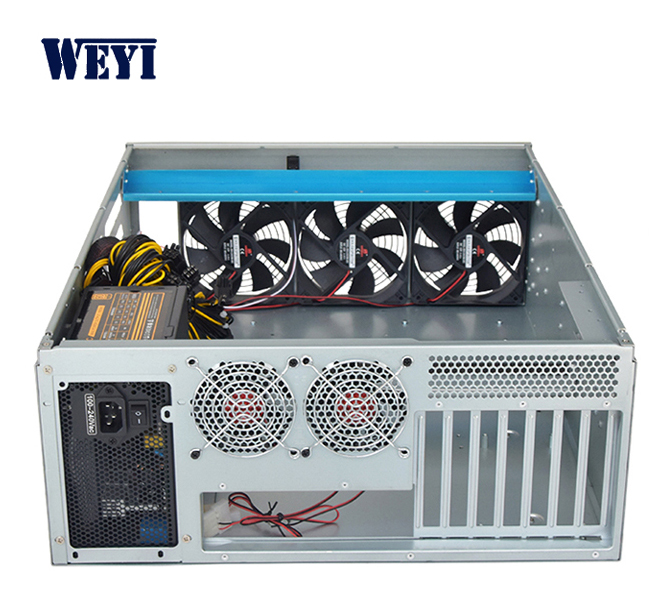 19 inch 4U 6GPU mining rig eth rack bitcoin miner server case nas chassis