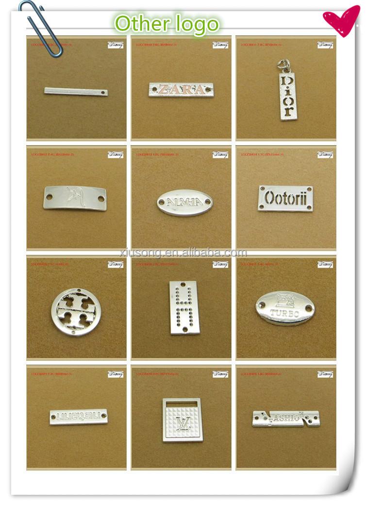 Logo3461 Famous Brand Designer Handbag Logos Metal Plates For