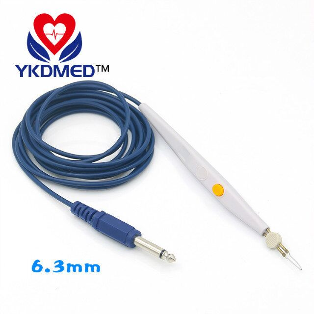 6.3mm plug connector single control button unipolar rechargeable electrocoagulation pencil