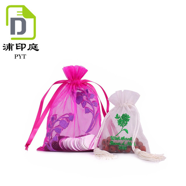 b3a53d717 Bajo Costo de lujo de dulces de boda bolsa de organza bolsa de fiesta
