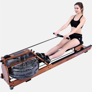 water resistance rowing machine wooden household lose weight aerobic exercise 6303