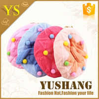 2016 latest lovely warm hand knitted new born baby infant toddler crochet hat