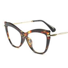 2018 новые женские кошачьи очки Модные женские прозрачные линзы очки оправа готовые очки для близорукости защитные очки с коробкой NX(Китай)
