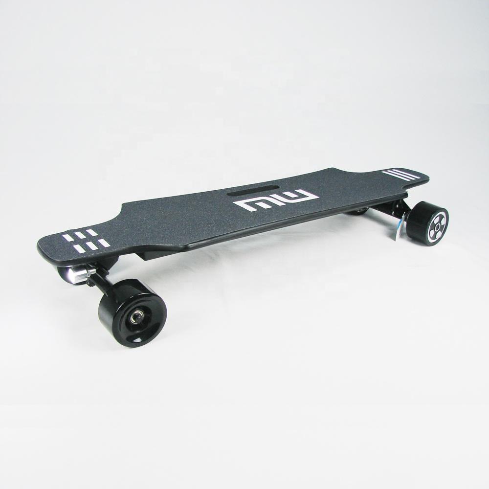 350w dual hub motor direct drive remote control suv offroad all-terrain 25 mph electric skateboard e longboard