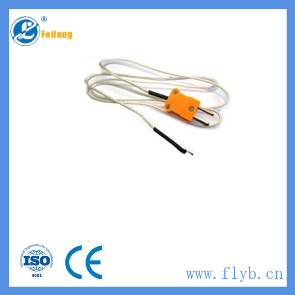 Feilong pt100 type thermocouple with mini connector with hot gasket