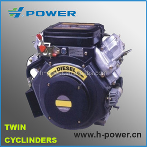 25hp with double cylinder diesel engine