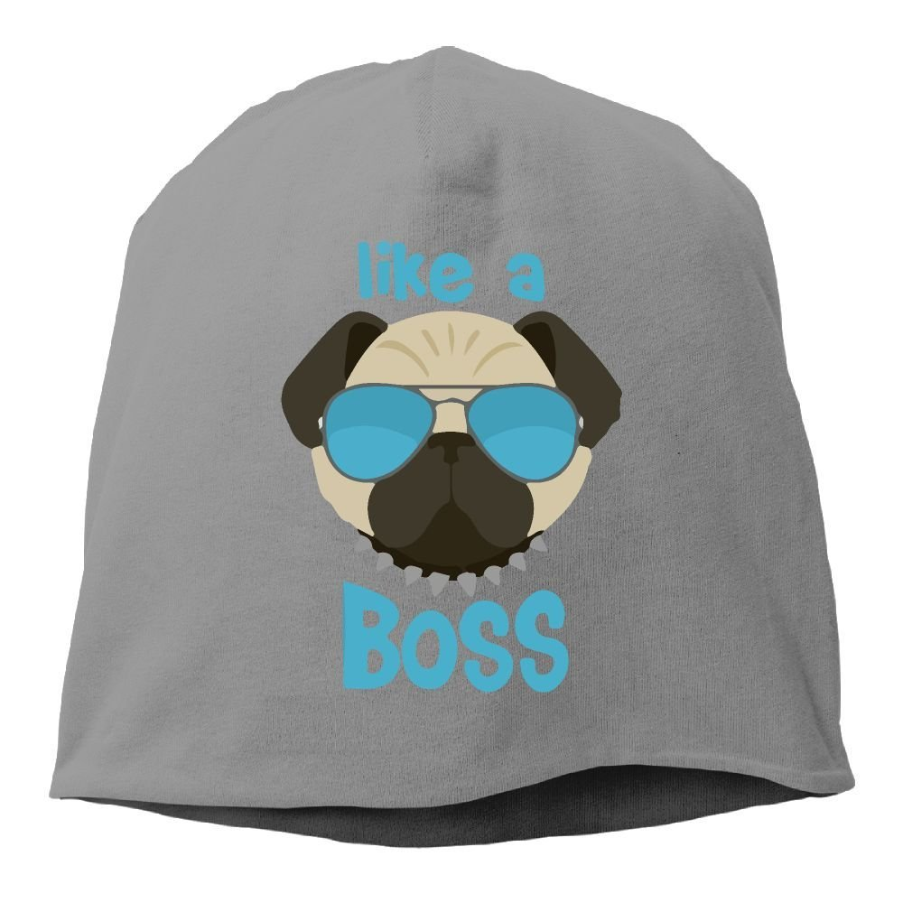 0de5e0b941d Get Quotations · Like A Boss Pug Gifts Unisex Warm Winter Hat Knit Skull  Beanie Slouchy Beanie Hat