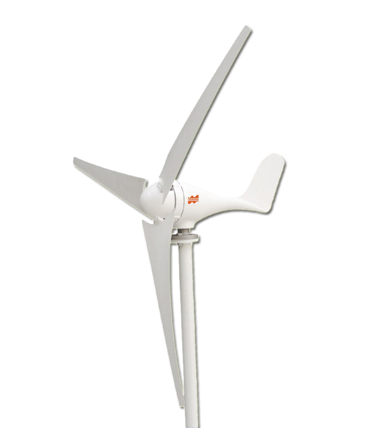 MarsRock Small Wind Turbine Generator AC 12V or 24V, 100W 200W 300W 400W Economy Windmill for wind solar hybrid system 2m/s Start Wind Speed 3 blades(200Watt 24Volt)