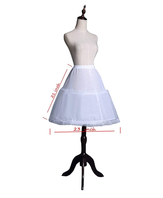 b2839f86dade Get Quotations · SHENLINQIJ Girls' 3 Hoops Petticoat Full Slip Flower Girl  Crinoline Skirt for Girl Dress