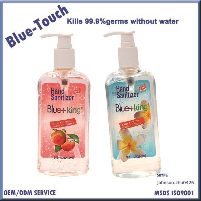 suppliers of antiseptic hand sanitizer 9 FL.OZ 266ml gel hand sanitizer without water