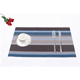Plastic place mat textilen fabric colorful stripe table placemat