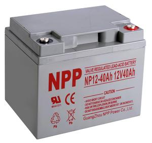 NPP 12V 40ah Germany standard VRLA battery for UPS / Standby power applications