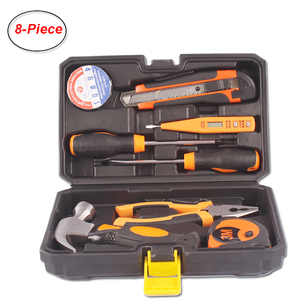 8-Piece Small Portable Household Tool Set Home Repair Hand Tool Kit with Plastic Tool box Storage Case