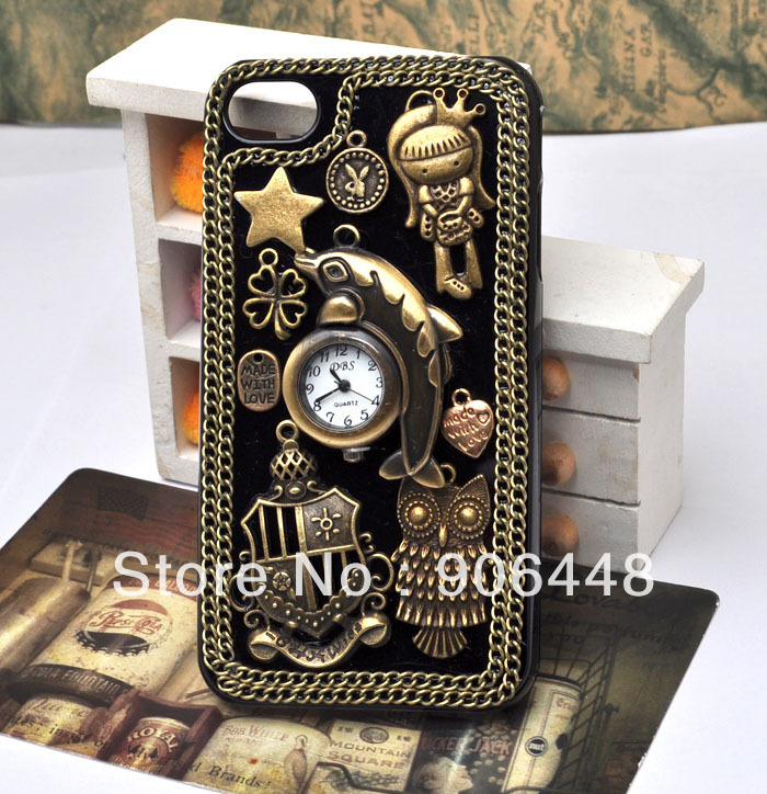 Steampunk Retro Style Cell Phone Case For Iphone 4 4s 5