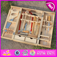 2016 new fashion wooden educational tool set,best sale wooden kids tool set,high quality child toy wooden tool set W03D024
