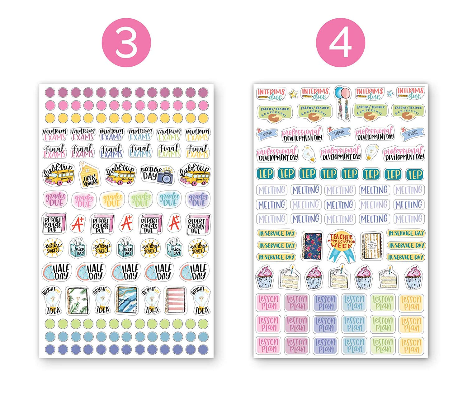 Daily Planner Stickers Calendars Stickers for Daily Planner, Agenda or Notebook