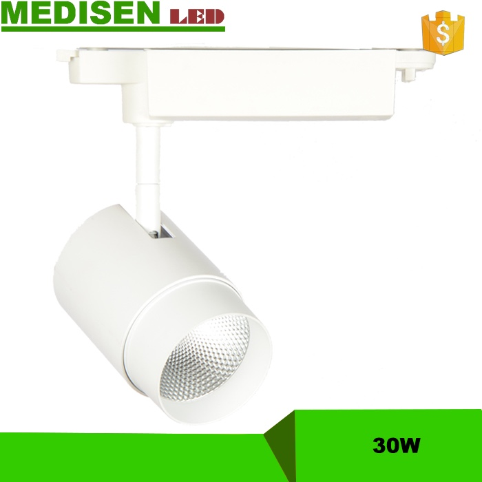 MS-30w Hot selling 15W Alumium Dimmable LED Track Lighting designed for clothes store, art gallery, supermarket