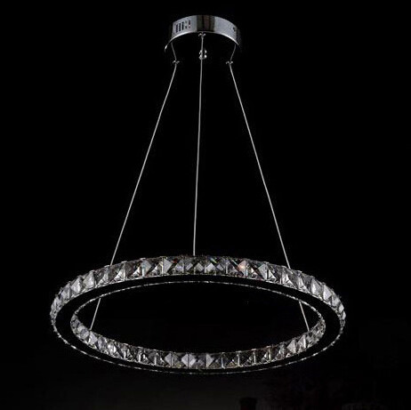 Wonderland Single Ring New D20 30 40 50 60 70CM Round LED Crystal Light Lamp Luxury