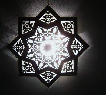Moroccan Star Flush Mount Ceiling Light Fixture Lamp