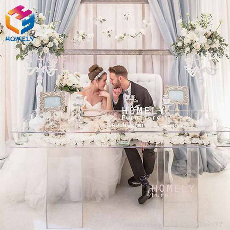 different colors led light stainless steel base glass top acrylic wedding table