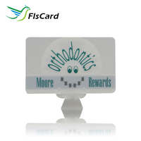 Fashion Free Design Transparent PVC Reward Card With Magnetic Stripe Card