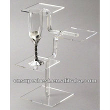 Acrylic display case for wine glasses