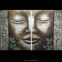 china supplier online shopping buddha canvas painting patterns on canvas