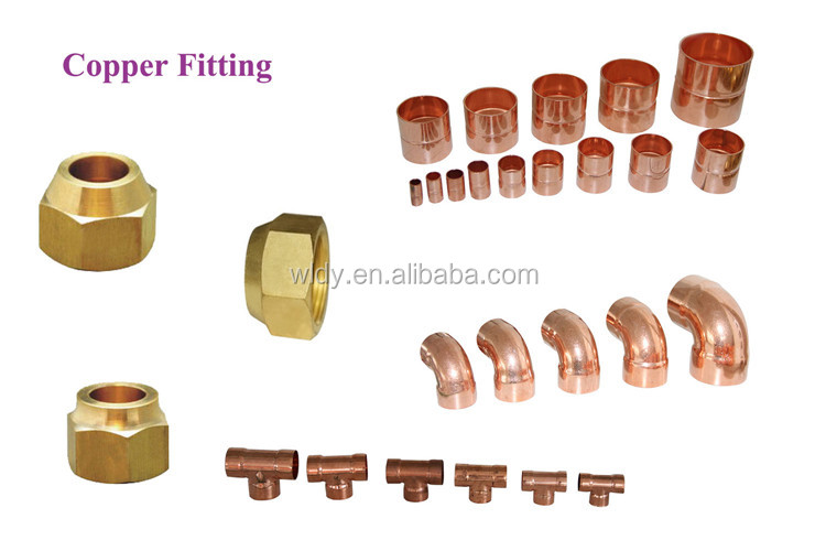 1/4, 3/8, 1/2, 5/8, 3/4 Brass Refrigeration Flare Copper nuts/flare nut brass fitting