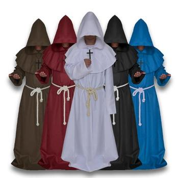 Halloween Clothes Props Middle Ages Monks Take Godsworn Robe Clerical Dress  The Priest Cosplay Costume For