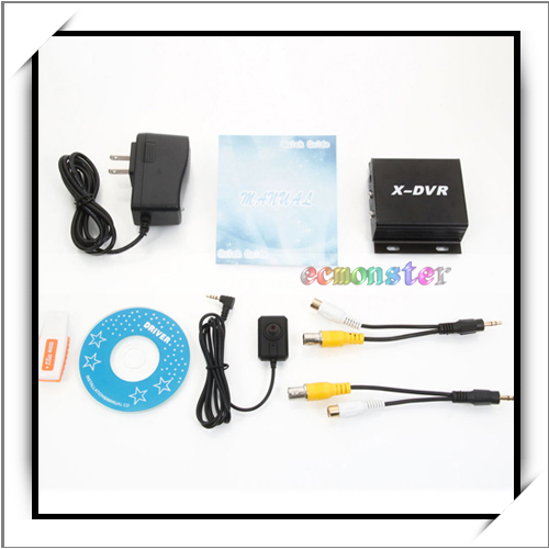 Mini DVR with Motion Detection Camera Black