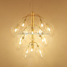 2017 Post Modern Grape Shape Glass Chandelier Gold Pendant Light For Bedroom, Hall and Cretive gallery