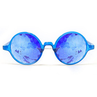 Transparent Blue Kaleidoscope Glasses Sapphire Real Glass Crystals Party Occasions Clubs for Adults UnisexBKF1509018-8