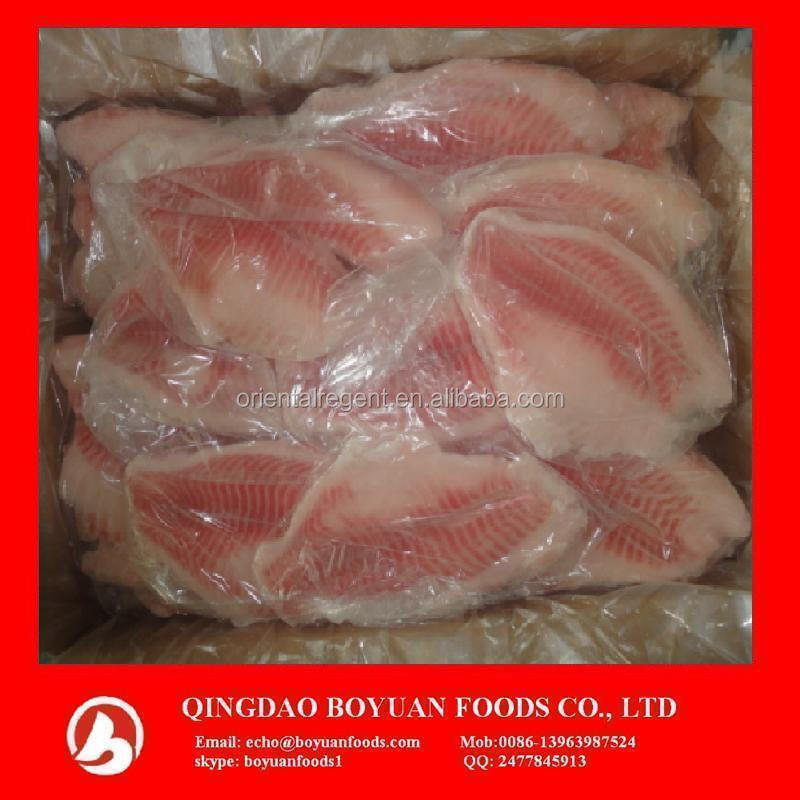 fish fillet frozen tilapia Chinese factory large quantity