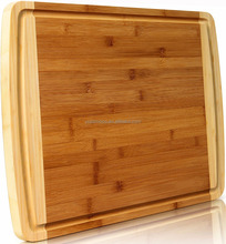 Bamboo wooden pizza food serving board with handle