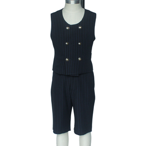 Double Breasted Design Cotton Kids Waistcoat Navy Uk School Style School Uniforms Vest