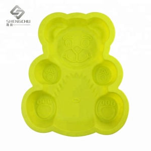 Small Size Bear Shaped Cake Baking Silicone Mold