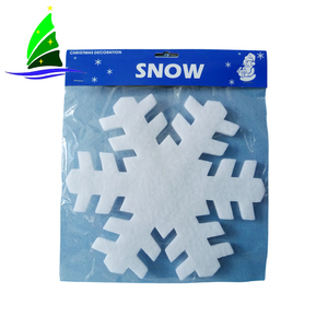 Fashion cheap christmas tree decoration plastic glitter snowflake