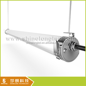PC cover stainless end cap 8ft led tube light fixture IP69K