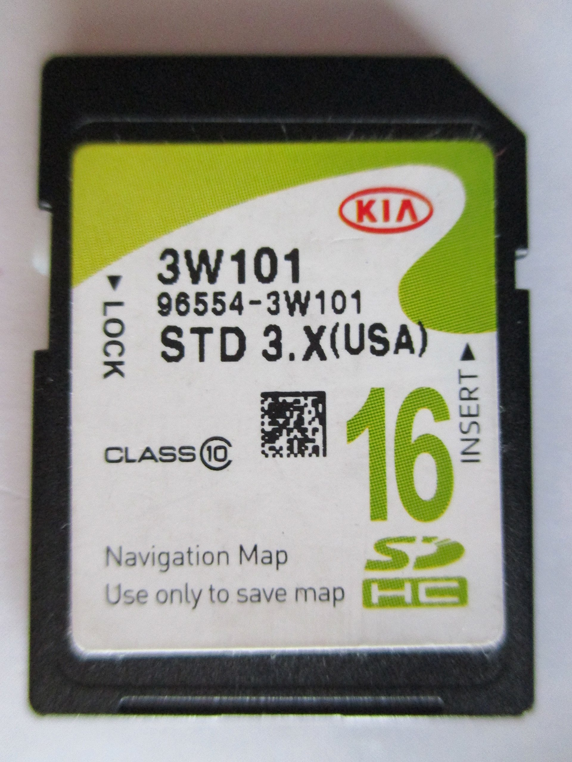 3W101 2014 2015 2016 KIA SPORTAGE Navigation MAP Sd Card ,GPS UPDATE , U.S.A OEM PART # 96554-3W101 3.X 16GB