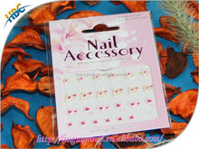 HOT wholesale 3D design finger and toe nail sticker