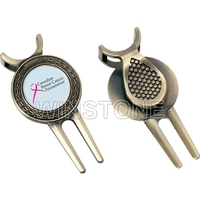 Customized Design Antique Golf Pitch Repairer With Cap Clip and Ball Marker