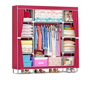 Suoernuo Bedroom Furniture Set Modern With Fabric Wardrobe