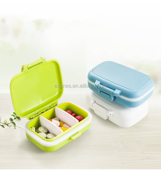 Mini Portable Plastic Pill Organizer Medicine Case Pill box for Daily and Travel Use