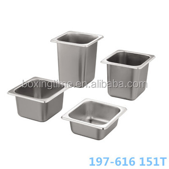 1 6 stainless steel gn pan food container with polish for Surface container